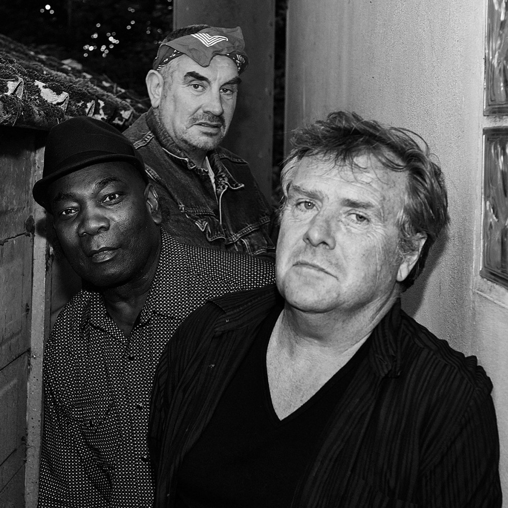 Mark Stewart Gareth Sager Dennis Bovell - B&W photo by Chiara Meattelli